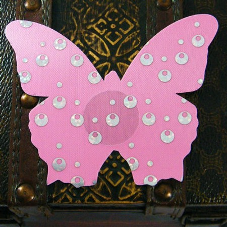 Pink butterfly nipple cover