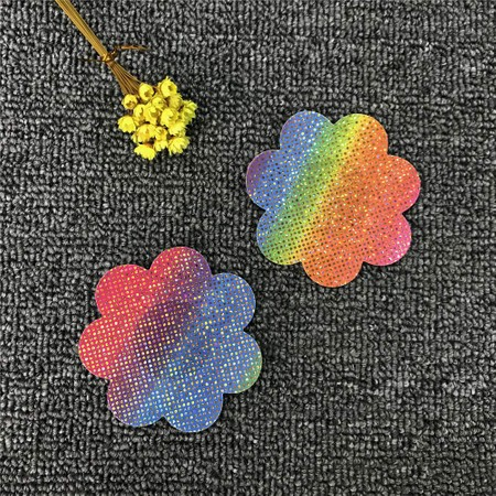 מדבקה לפטמות פרח צבעוני