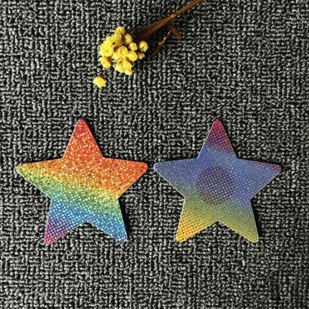 מדבקה לכיסוי פטמות כוכב צבעוני