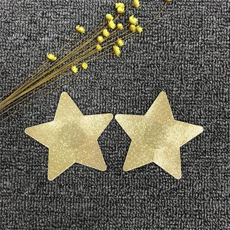 כיסוי לפטמות כוכב זהב נוצץ