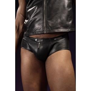 מכנסון דמוי עור שחור קצרצר לגבר