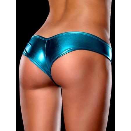 תחתונים סקסיים בצבע כחול מטאלי