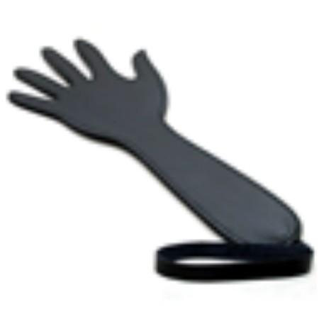 ספנקר עור שחור בצורת יד פרוסה