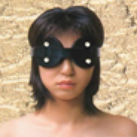 כיסוי עיניים דמוי עור שחור בריפוד פרווה נעים להחשכה מוחלטת