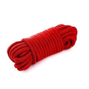 חבל כותנה אדום עבה אורך 10 מטר למשחקי קשירות