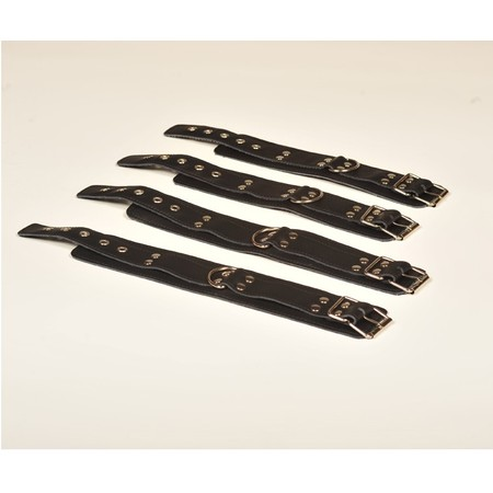 סט ארבעה אזיקי עור לרגליים וידיים - ללא חיבור