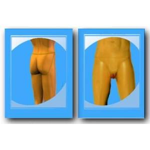 תחתון סיליקון בצורת וגינה נשית להלבשה על גבר צבע רגיל ושפתיים קטנות.