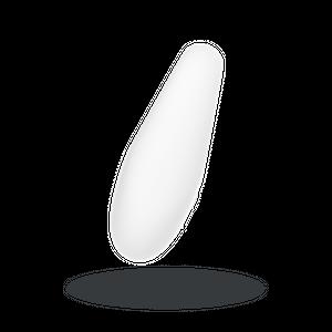 White Temptation ויברטור סיליקון לבן זהוב אלגנטי לגירוי חיצוני עוצמתי Satisfyer