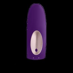 Partner Plus Remote ויברטור סיליקון סגול בעל שני מנועים עם שלט רחוק Satisfyer