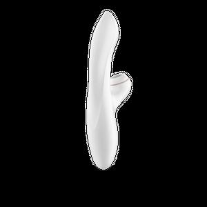 Pro Rabbit ויברטור לבן לגירוי פנימי עם יניקה לדגדגן Satisfyer