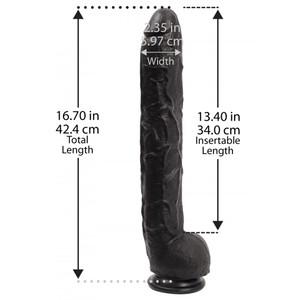 Rambone דילדו ריאליסטי ענק PVC שחור אורך 34 סמ עובי 6 סמ Doc Johnson