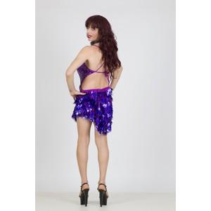 שמלת מיני סגולה לדראג