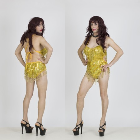 בגד גוף בצבע זהב לדראג