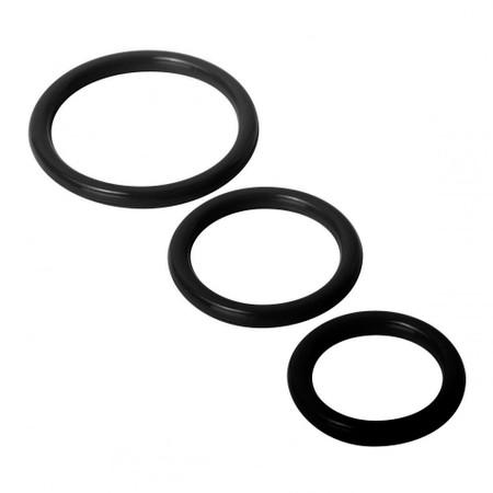 Trinity Cock Rings סט 3 קוקרינג עשויים סיליקון בגדלים שונים