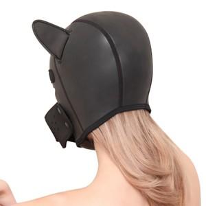 A black dog head mask small