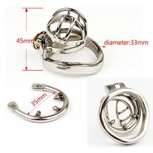Locked in Prison Small חגורת צניעות לגבר ממתכת עם טבעת ניטים