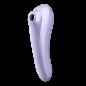 Dual Pleasure ויברטור דו-צדדי רוטט ויונק עם אפליקציה של Satisfyer