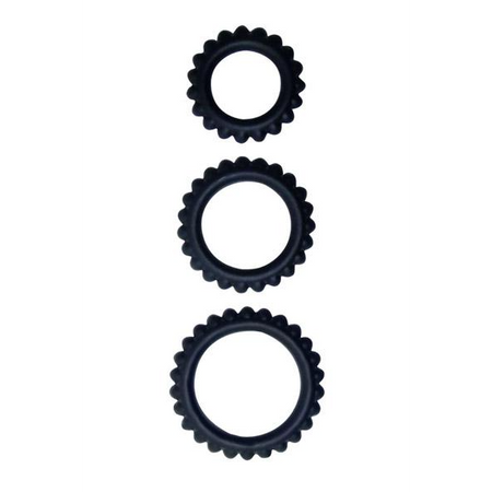 TITAN Set of 3 silicone cock rings in different sizes