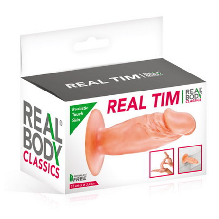 Real Body  realistic Butt Plug with a suction bottom 11 cm long
