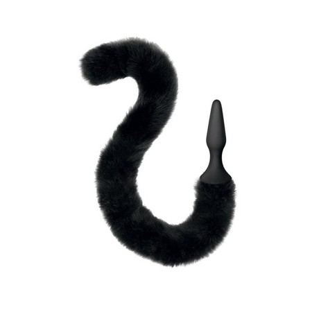Small silicone plug with a Black cat tail Sweet Caress