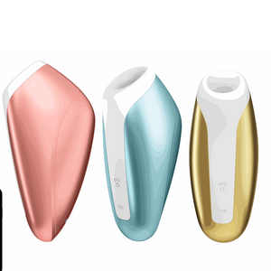 Love Breeze compact vibrator and suction in metallic colors Satisfyer