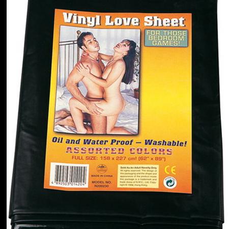 Vinyl Love Sheet סדין ויניל שחור למשחקי סקס