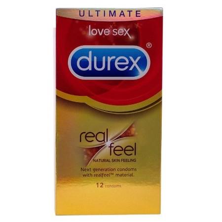 12 קונדומים ללא לטקס לתחושת מגע טבעית Durex Real Feel