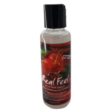Real Feel על בסיס מים חומר סיכה טבעוני בטעם דובדבן