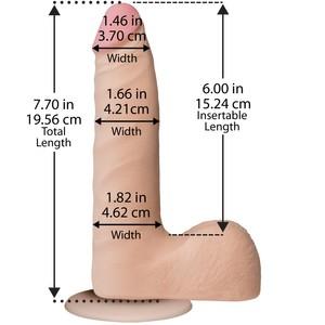 דילדו The Realistic® Cock - ULTRASKYN™ Slim - 7 Inch
