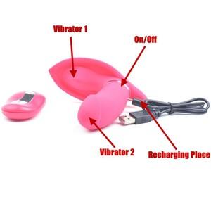 פרפר אהבה לביש נטען USB עם שלט דמוי איבר