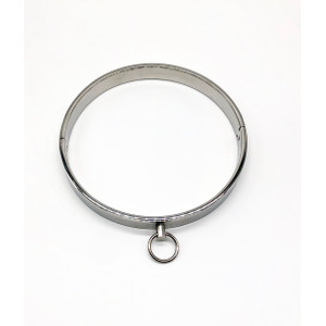 קולר מתכת שטוח עם טבעת הובלה
