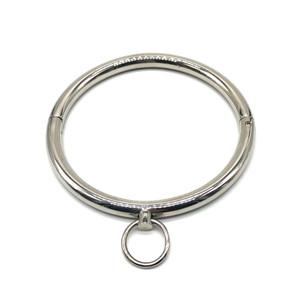 קולר מתכת מעוגל עם טבעת הולכה
