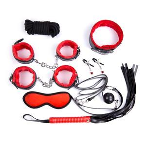 ערכת קשירות משולבת אדום ושחור 8 חלקים