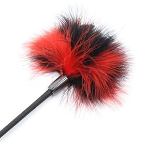 מחבט קטן משולב בנוצה פלפי אדום/שחור