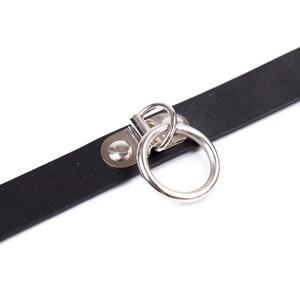 קולר צר שחור עם טבעת O