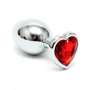 פלאג מתכת גדול עם יהלום לב