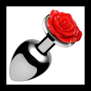 """פלאג מתכת קטן עם קישוט ורד בקצה עובי 2.5 ס""""מ"""
