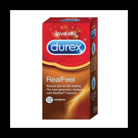"""ללא לטקס 56 מ""""מ Durex Real Feel"""