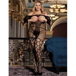 בגד גוף רשת עם שרוולים XL
