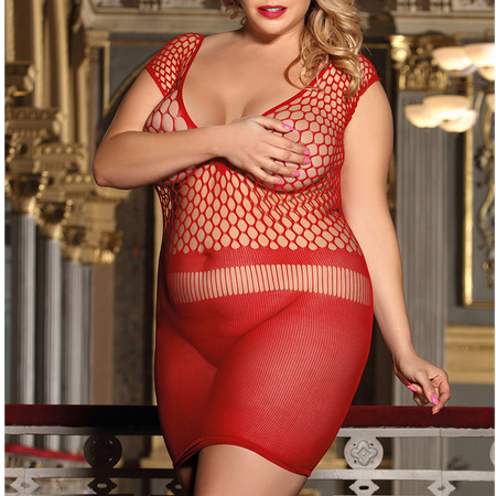 שמלת מיני אדומה L-XL